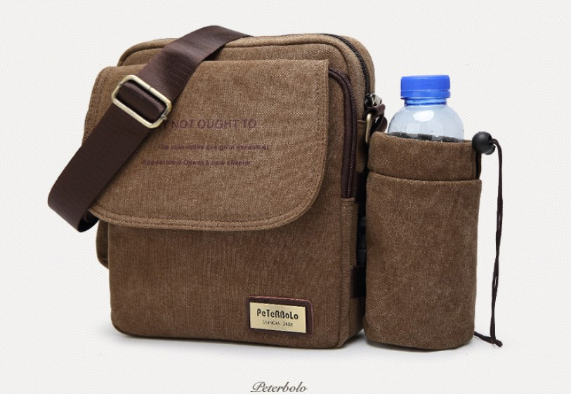 muzhskaja plechevaja sumka peterbolo maskilli plus so semnym otdeleniem dlja butylki 06 - Мужская сумка наплечная Peterbolo Maskilli со съемным карманом для бутылки