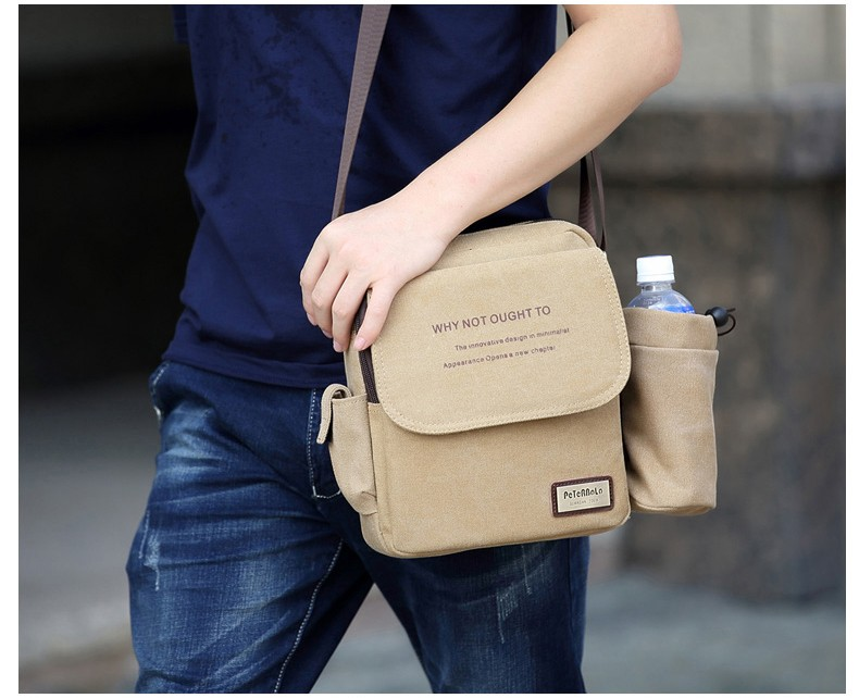 muzhskaja plechevaja sumka peterbolo maskilli plus so semnym otdeleniem dlja butylki 16 - Мужская сумка наплечная Peterbolo Maskilli со съемным карманом для бутылки