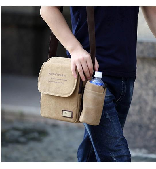 muzhskaja plechevaja sumka peterbolo maskilli plus so semnym otdeleniem dlja butylki 18 - Мужская сумка наплечная Peterbolo Maskilli со съемным карманом для бутылки