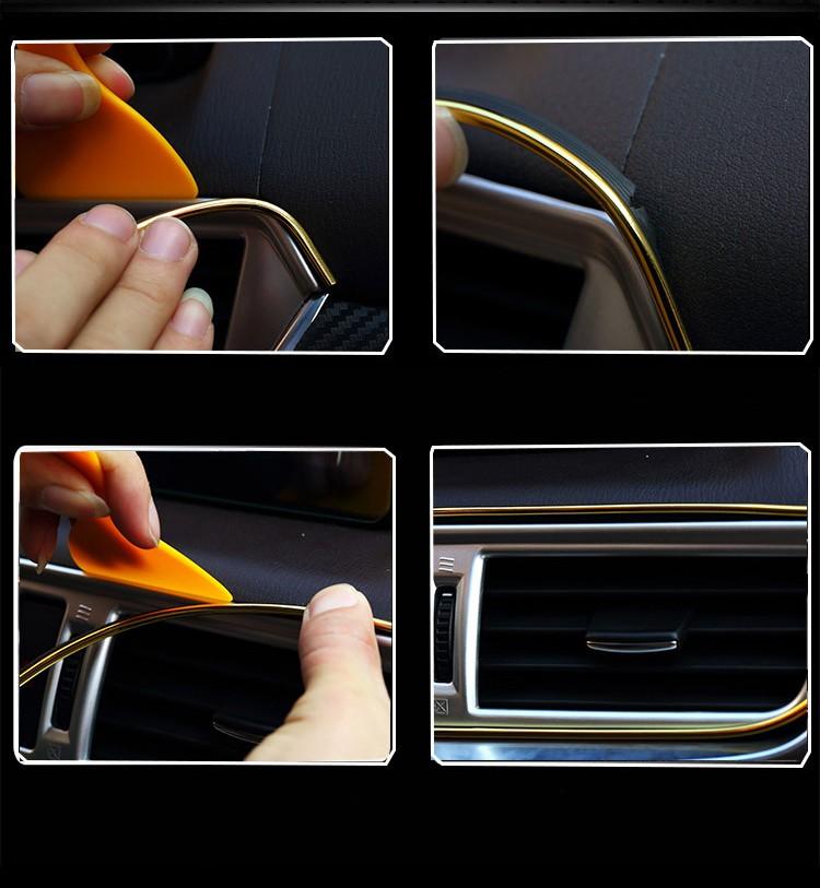 universalnyj avtomobilnyj uplotnitel dlja dveri molding salona 11 - Универсальный автомобильный уплотнитель для двери, молдинг салона авто – НЕ клеящийся!