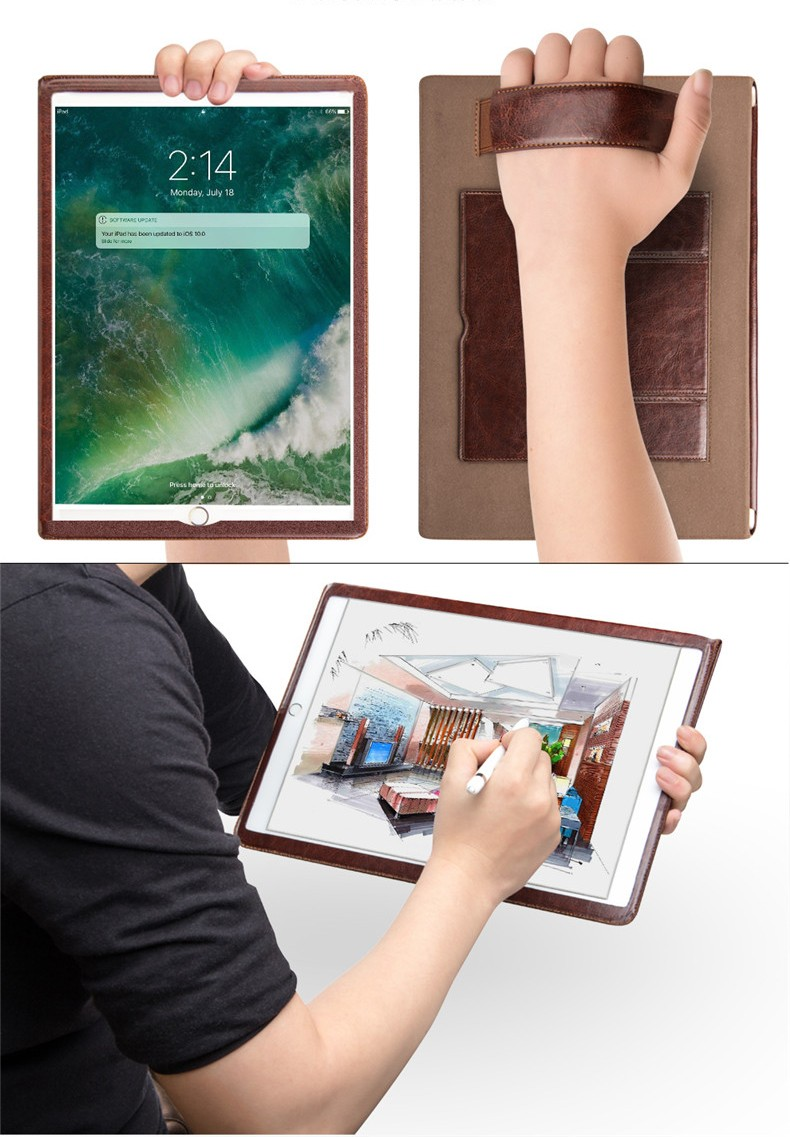 kozhanyj chehol dlja ipad7 chehol podstavka dlja ipad air ipad pro ipad mini 22 1 - Кожаный чехол для ipad, чехол-подставка для IPAD AIR 2/3, iPad Pro, ipad mini 1/2/3/4/5 Apple