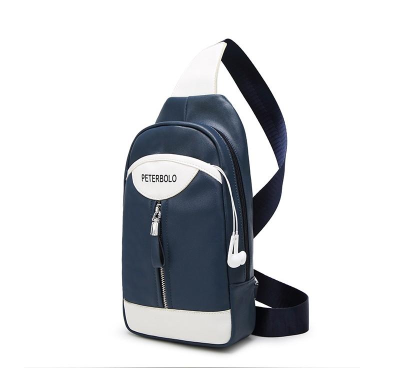 Мужской рюкзак-сумка PETERBOLO BlackWhite