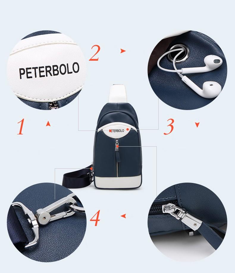 Мужской рюкзак-сумка PETERBOLO
