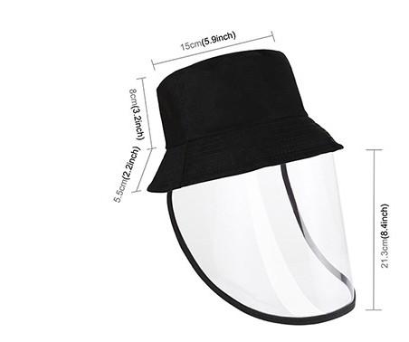 detskij zashhitnyj jekran dlja lica s shapochkoj 07 - Детский защитный экран для лица с шапочкой (противовирусная детская маска защитная + панама)