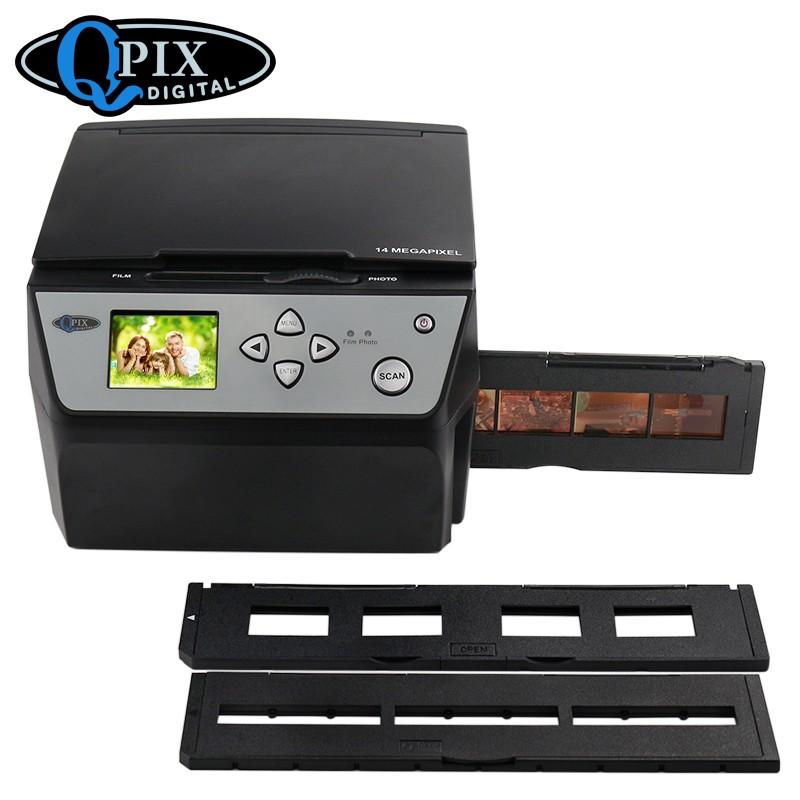 fotoskaner usb dlja negativov fotopljonki 35 mm i slajdov s zhk monitorom qpix digital cbs1400 04 - Фотосканер USB для негативов, фотоплёнки 35 мм и слайдов с ЖК-монитором QPIX DIGITAL CBS1400