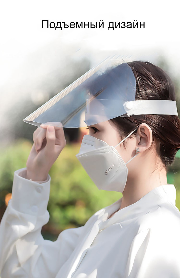medicinskaja maska zashhitnaja dlja lica anticovid 19 06 1 - Медицинская маска защитная для лица AntiCOVID-19, защитный экран для лица многоразовый, пластиковый