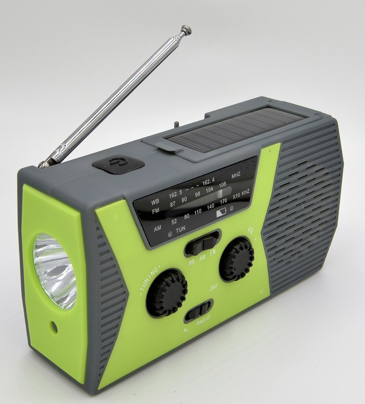 portativnoe dinamo radio s zarjadkoj usb power bank solnechnoj panelju i fonarikom sunshy 018wb 02 - Портативное динамо-радио с зарядкой USB, Power Bank, солнечной панелью и фонариком SunSHY-018WB