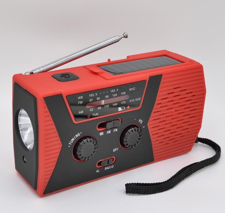 Портативное динамо-радио с зарядкой USB, Power Bank, солнечной панелью и фонариком SunSHY-018WB