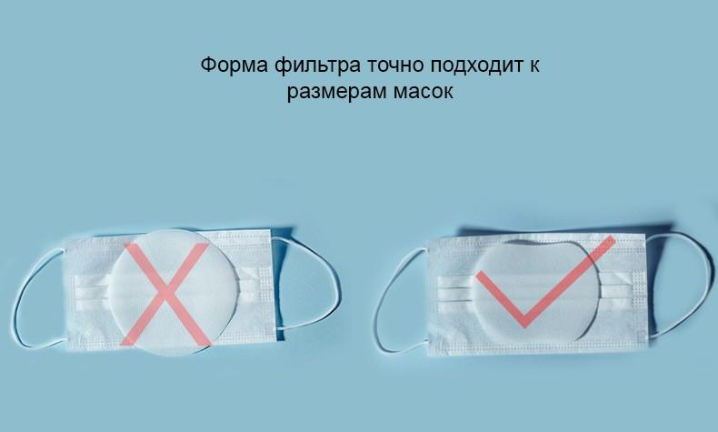 protivovirusnye smennye filtry dlja zashhitnyh masok 04 - Противовирусные сменные фильтры для защитных масок, респираторов, повязок (упаковка одноразовых фильтров 120 шт)