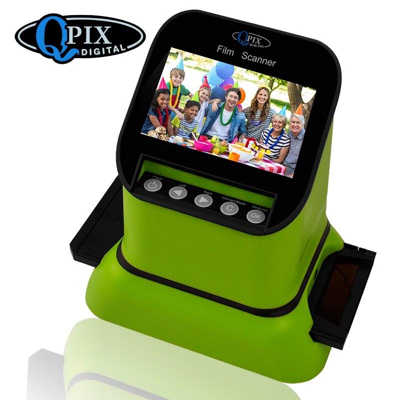 USB-сканер фотоплёнки и слайдов с ЖК-монитором 4,3 дюйма QPIX DIGITAL FS210: 22Мп, SD-карты до 128Гб
