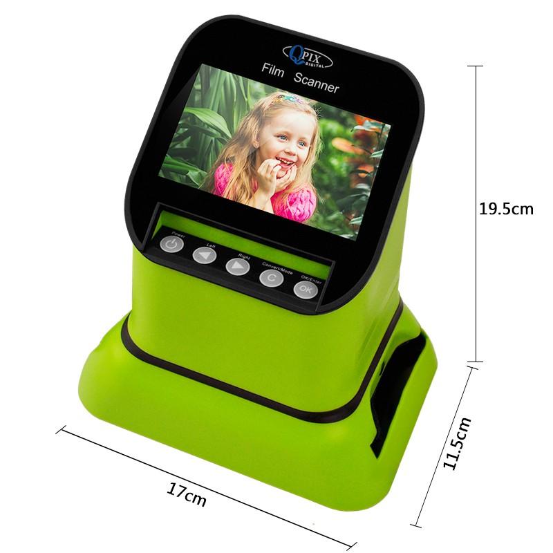 USB-сканер фотоплёнки и слайдов с ЖК-монитором 4,3 дюйма QPIX DIGITAL FS210: 22Мп, SD-карты до 128Гб 251031