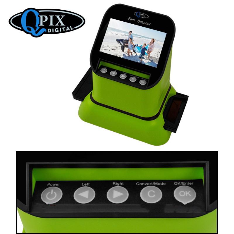 USB-сканер фотоплёнки и слайдов с ЖК-монитором 4,3 дюйма QPIX DIGITAL FS210: 22Мп, SD-карты до 128Гб 251038