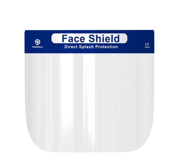 Защитная маска для лица пластиковая, медицинская, многоразовая