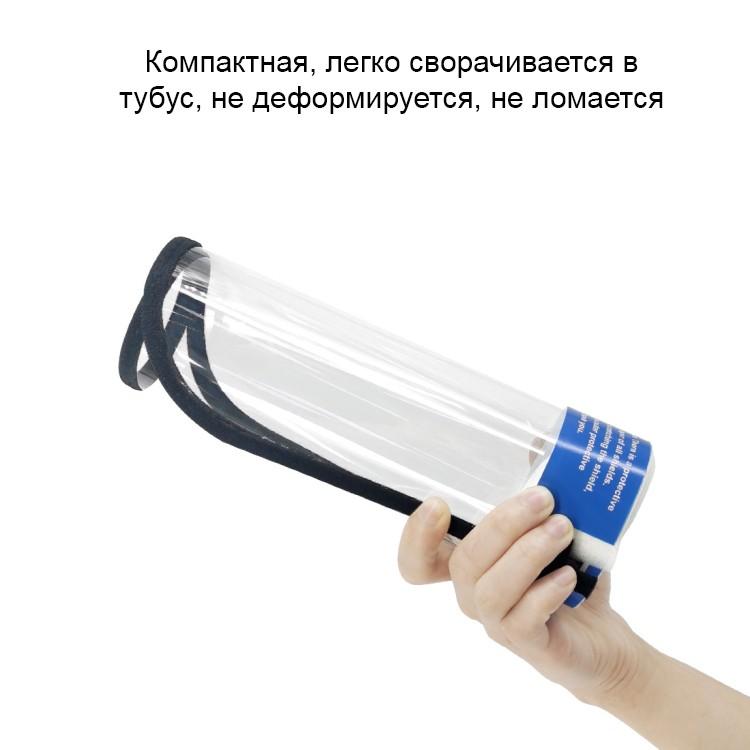 Защитный комплект врача-инфекциониста: защитный костюм + защитный экран пластиковый 252050