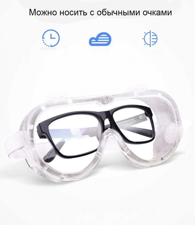 Медицинские очки защитные – 100% герметичная защита от вирусов, осколков, пыли