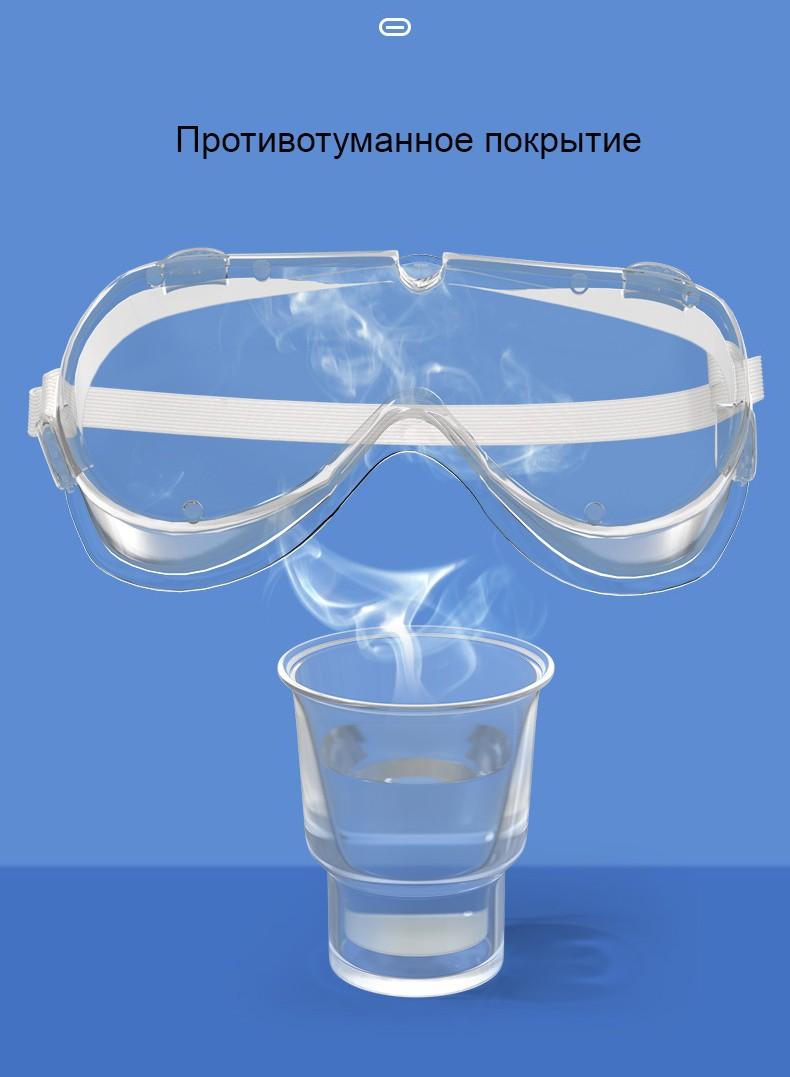 zashhitnye ochki dlja glaz zashhitnaja polumaska ot virusov 12 - Медицинские очки защитные – 100% герметичная защита от вирусов, осколков, пыли