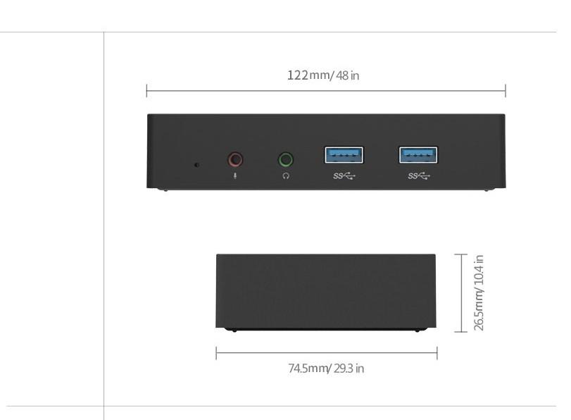mnogofunkcionalnaja dok stancija orico sdb1 02 - Многофункциональная док-станция ORICO SDB1 - PD USB Type C-хаб, HDMI 4К, RJ45, USB3.0 х 6, аудио