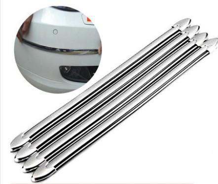 Защитные накладки на бамперы из ПВХ (4 штуки в комплекте), металлик