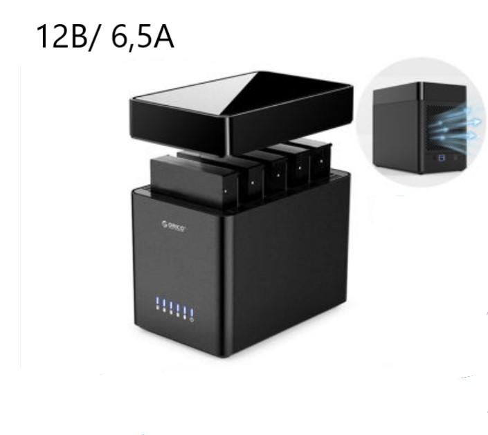 Внешний корпус для жестких дисков 35ʺ Orico DS500U3 14 - Внешний корпус для жестких дисков 3,5ʺ Orico DS500U3, вмещает 1-5 дисков, магнитный разъем