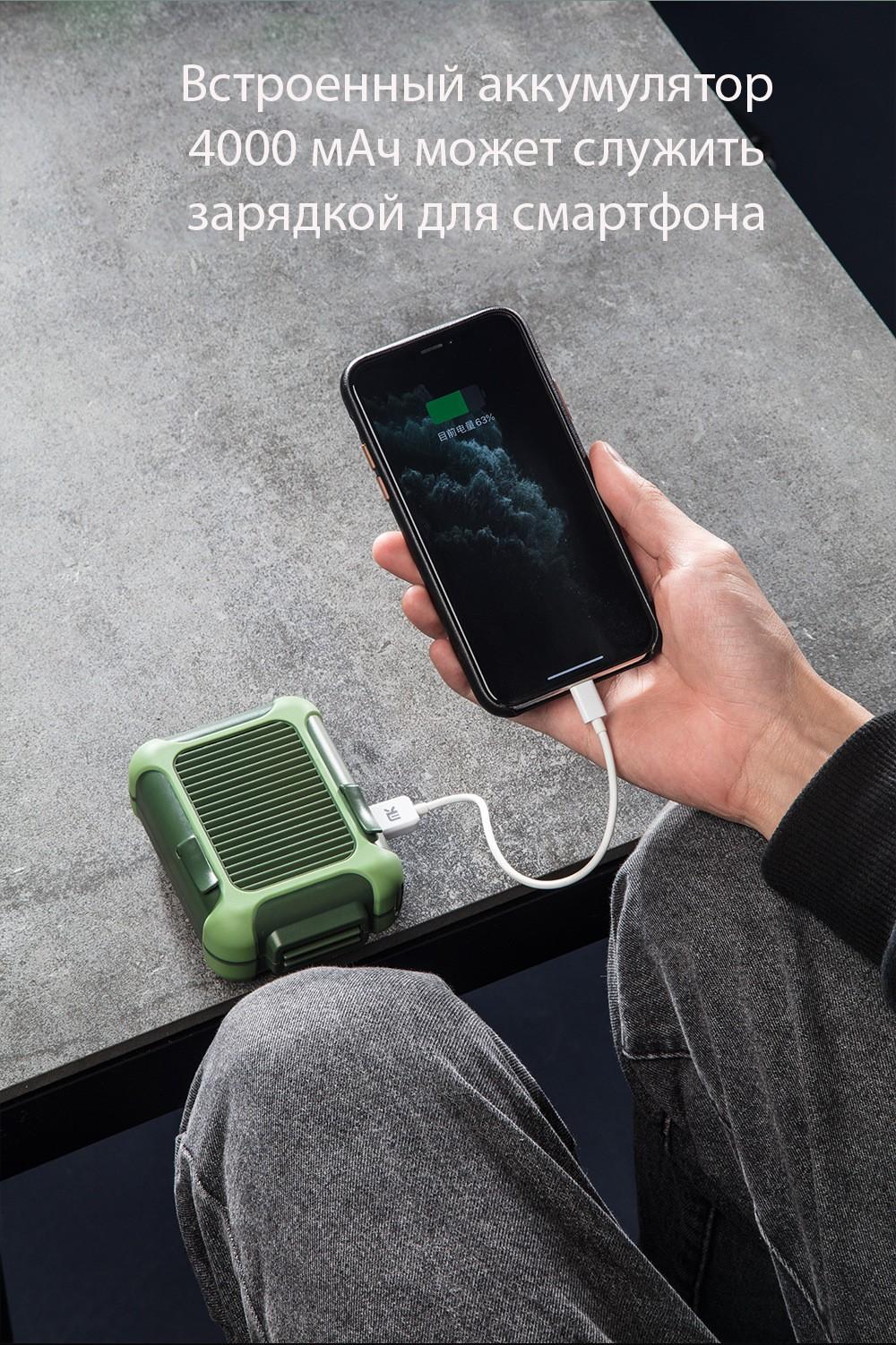 USB вентилятор с зажимом для одежды с Power Bank 4000 мАч 13 - Портативный USB-вентилятор с зажимом для одежды с Power Bank 4000 мАч