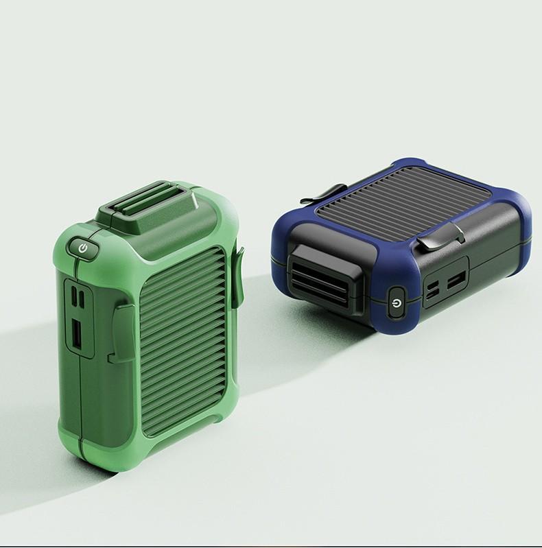 USB вентилятор с зажимом для одежды с Power Bank 4000 мАч 17 - Портативный USB-вентилятор с зажимом для одежды с Power Bank 4000 мАч