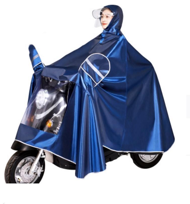 plashh dozhdevik dlja mopeda velosipeda so svetootrazhateljami 02 - Плащ-дождевик для мопеда/ велосипеда со светоотражателями, капюшоном, козырьком