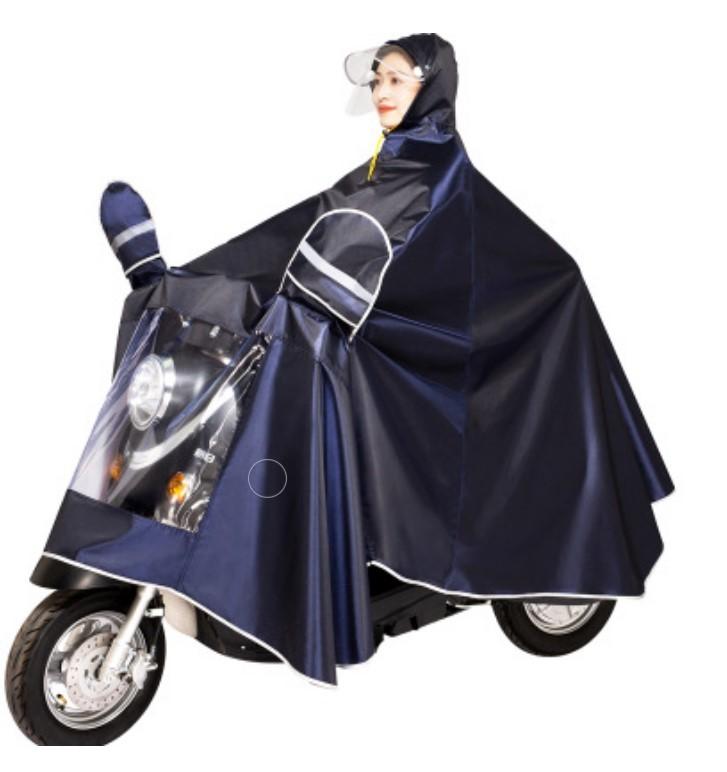 plashh dozhdevik dlja mopeda velosipeda so svetootrazhateljami 03 - Плащ-дождевик для мопеда/ велосипеда со светоотражателями, капюшоном, козырьком