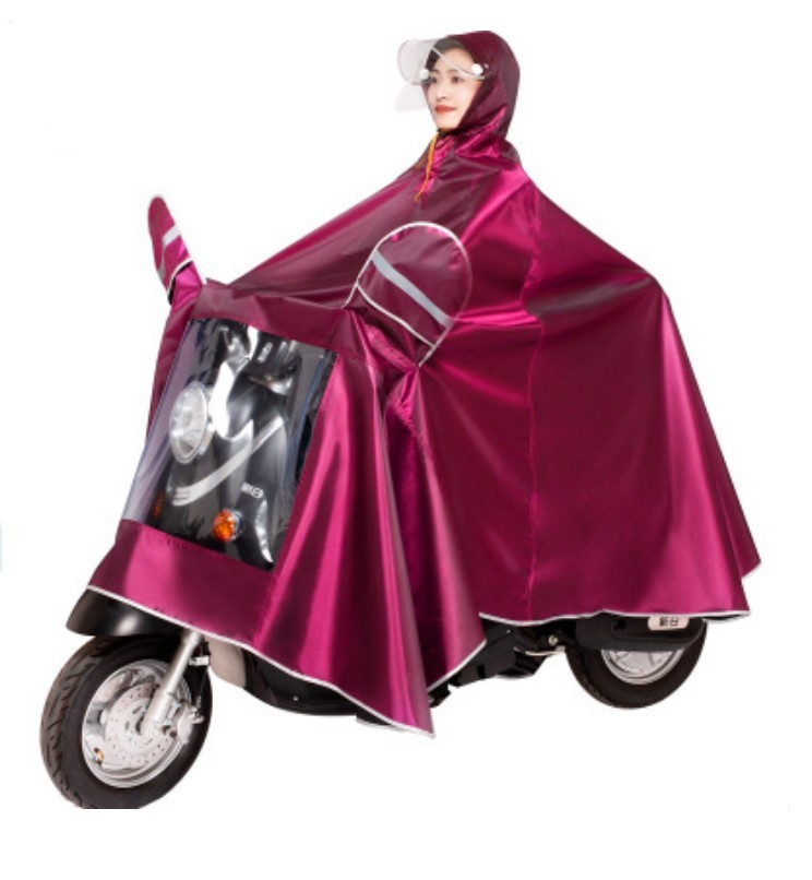 plashh dozhdevik dlja mopeda velosipeda so svetootrazhateljami 04 - Плащ-дождевик для мопеда/ велосипеда со светоотражателями, капюшоном, козырьком