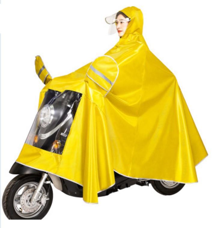plashh dozhdevik dlja mopeda velosipeda so svetootrazhateljami 22 - Плащ-дождевик для мопеда/ велосипеда со светоотражателями, капюшоном, козырьком