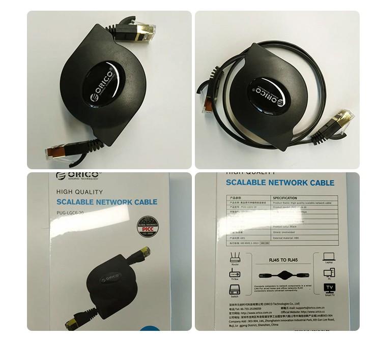 Выдвижной cетевой кабель RJ45 Ethernet Cat6 Lan 05 - Выдвижной cетевой кабель RJ45 Ethernet Cat6 Lan от Orico