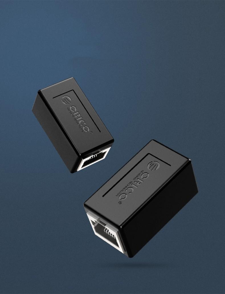 Гигабитный удлинитель сетевого кабеля RJ45 Orico 07 - Гигабитный удлинитель сетевого кабеля RJ45 Orico (сгонка для соединения патчкордов, адаптер)