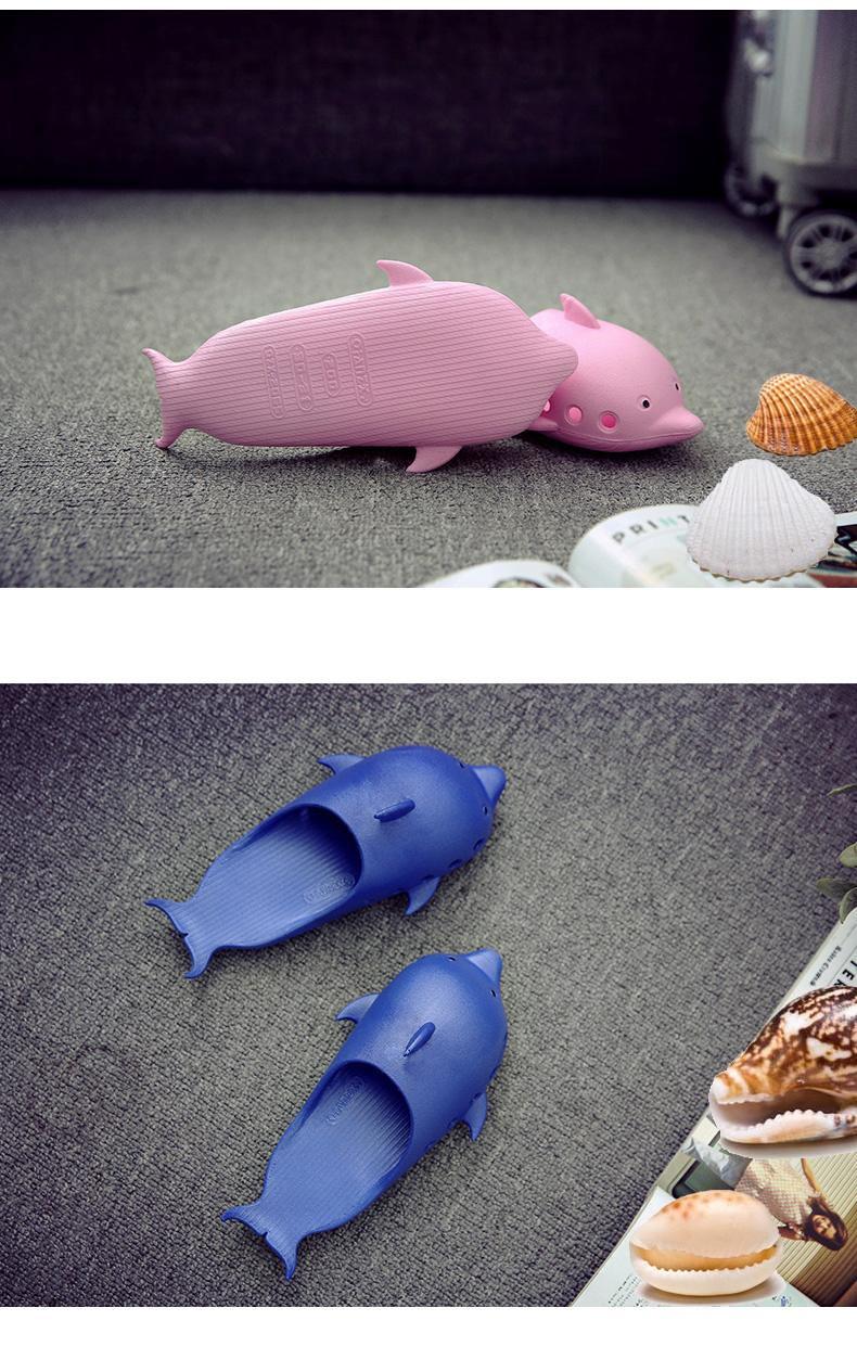 Пляжные шлепанцы Дельфины нескользящие тапки из ПВХ 10 - Пляжные шлепанцы Дельфины, нескользящие тапки из ПВХ, легкие шлепки