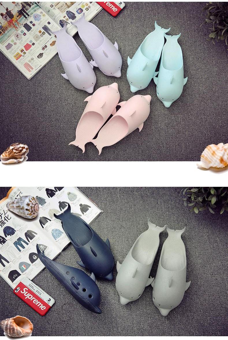 Пляжные шлепанцы Дельфины нескользящие тапки из ПВХ 11 - Пляжные шлепанцы Дельфины, нескользящие тапки из ПВХ, легкие шлепки
