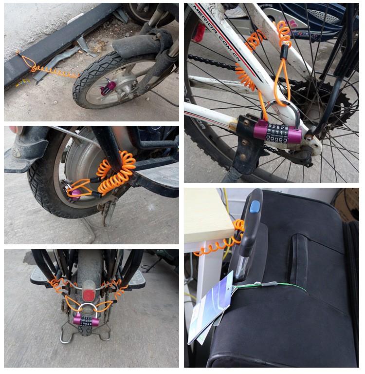 Противоугонный стальной трос для велосипеда (противоугонка)