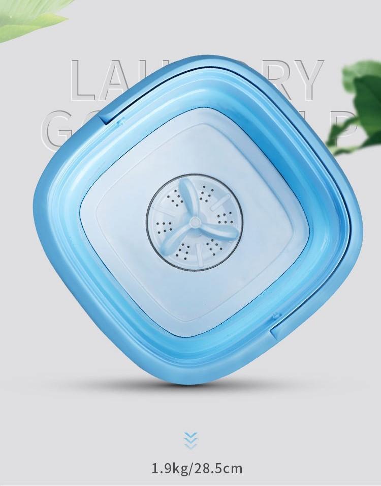 Складная стиральная машина ведро портативная 02 - Складная стиральная машина-ведро портативная до 2 кг белья, портативная мини-стиралка