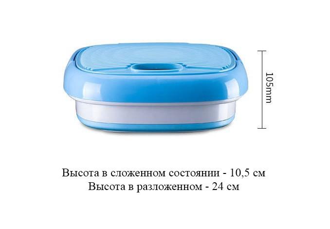Складная стиральная машина ведро портативная 07 - Складная стиральная машина-ведро портативная до 2 кг белья, портативная мини-стиралка