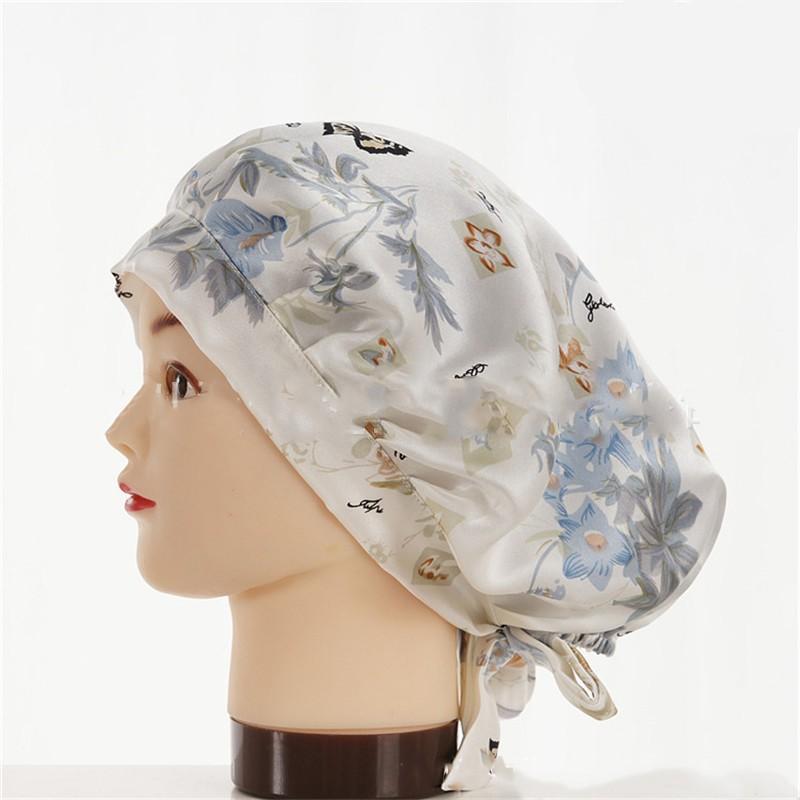 шапочка для сна регулируемая 02 - Шелковая шапочка для сна регулируемая, натуральный шелк