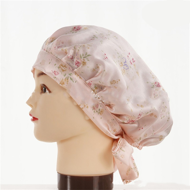 шапочка для сна регулируемая 05 - Шелковая шапочка для сна регулируемая, натуральный шелк