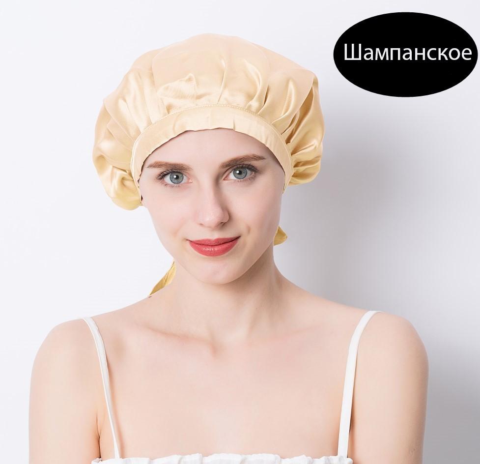шапочка для сна регулируемая 07 - Шелковая шапочка для сна регулируемая, натуральный шелк
