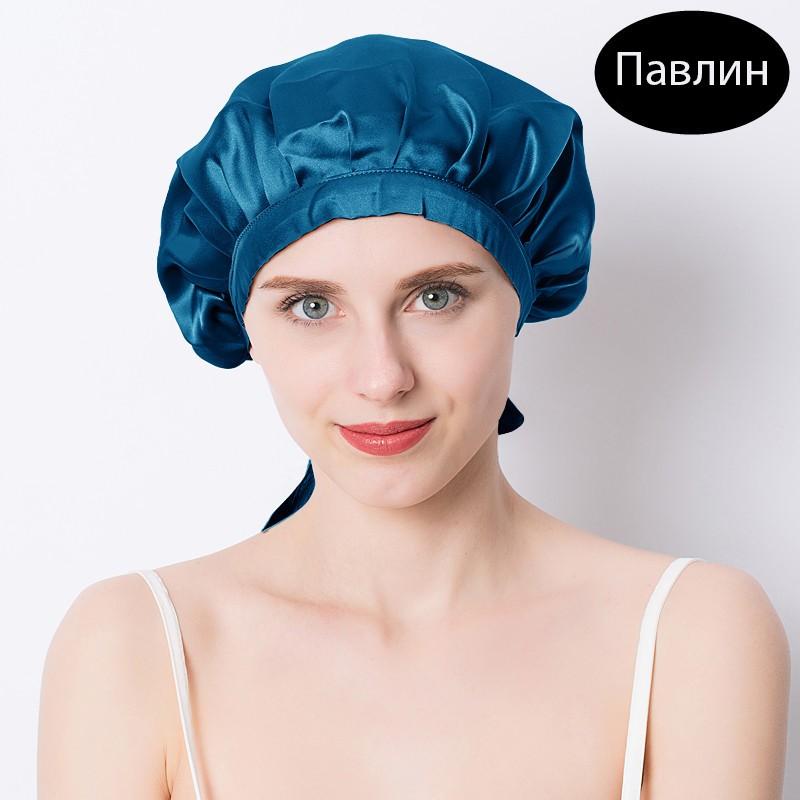 шапочка для сна регулируемая 12 - Шелковая шапочка для сна регулируемая, натуральный шелк