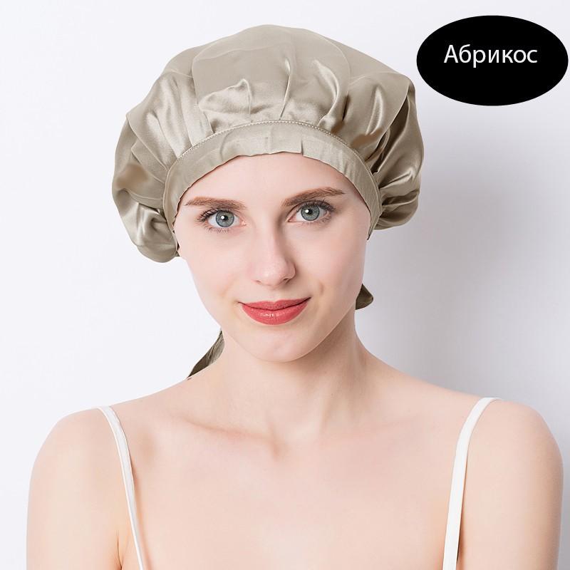 шапочка для сна регулируемая 20 - Шелковая шапочка для сна регулируемая, натуральный шелк