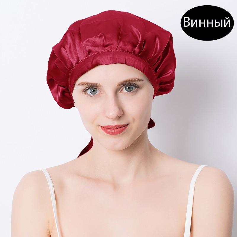 шапочка для сна регулируемая 24 - Шелковая шапочка для сна регулируемая, натуральный шелк