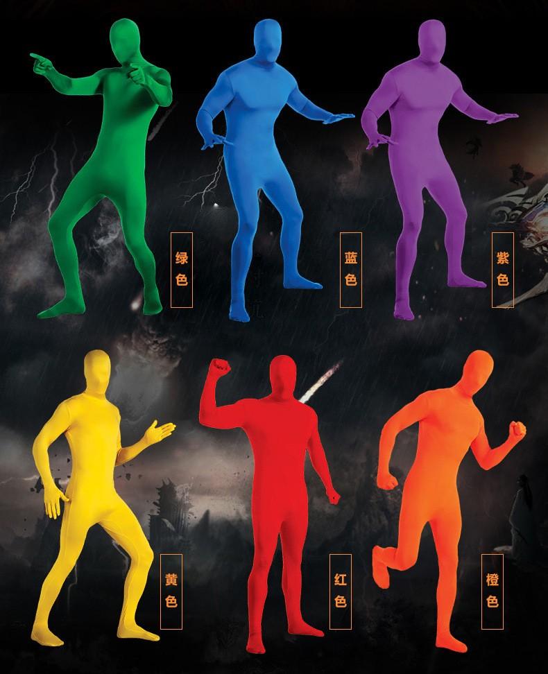 Костюм Человека невидимки вторая кожа 12 - Костюм Человека-невидимки, вторая кожа для взрослого - разные цвета