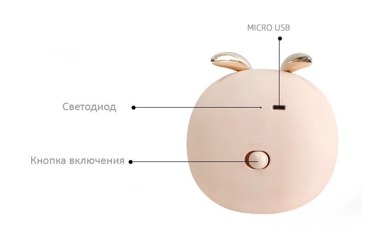 Атмосферная лампа ночник для детской 04 - Атмосферная лампа-ночник для детской, гостиной с перезаряжаемым аккумулятором