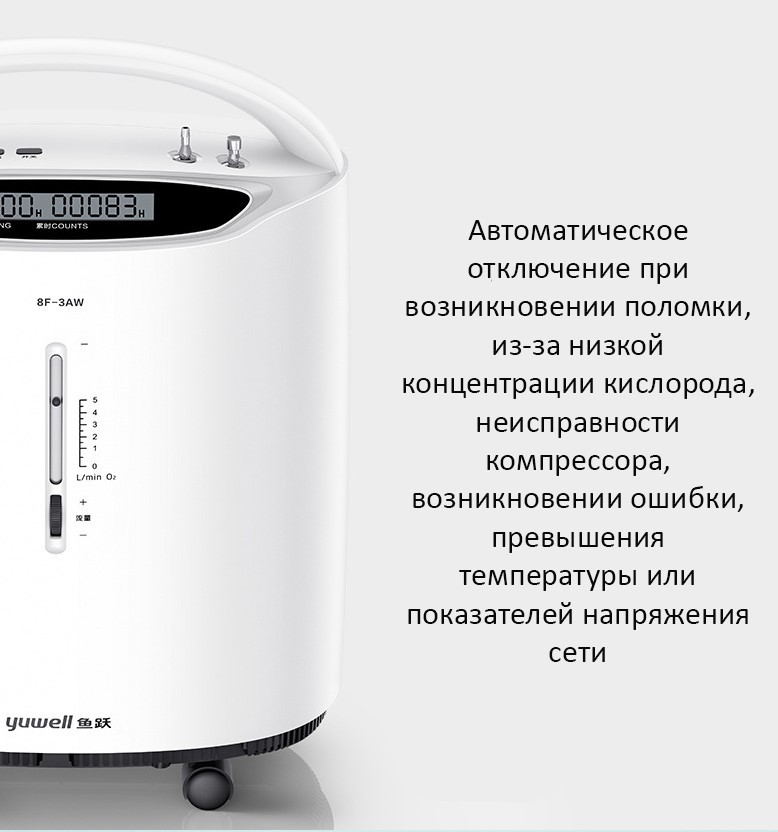 Кислородный концентратор Yuwell 8F-3AW 3 л в минуту