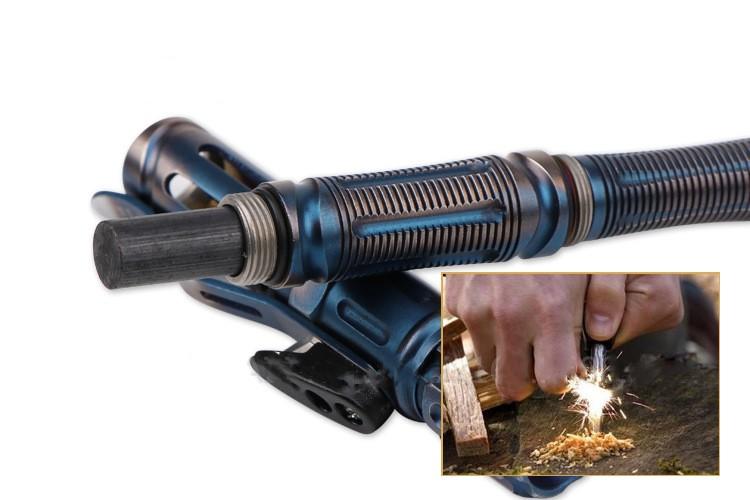 Многофункциональная тактическая ручка Laix T05 10 - Многофункциональная тактическая ручка Laix T05: стеклобой, нож, свисток, фонарик, отвертки, огниво