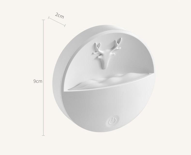 Светильник ночник с отсеком для ароматерапии 08 - Светильник-ночник с отсеком для ароматерапии, USB-зарядка, 3 режима