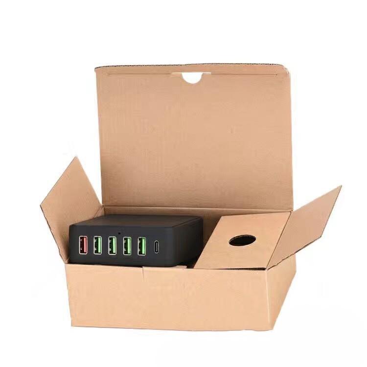 6 портовое USB зарядное с поддержкой быстрой зарядки QC3.0 07 - 6-портовое USB-зарядное с поддержкой быстрой зарядки QC3.0, Type-C, 6 портов USB