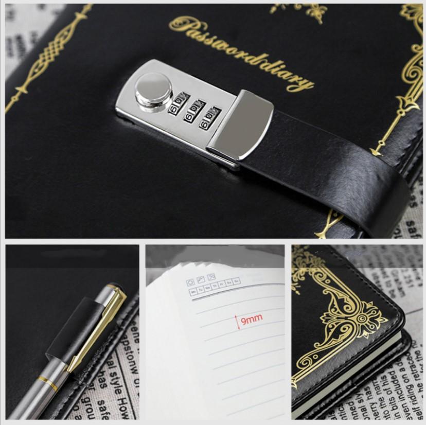 Подарочный блокнот на кодовом замке Beauty Note 22 - Подарочный блокнот на кодовом замке Beauty Note