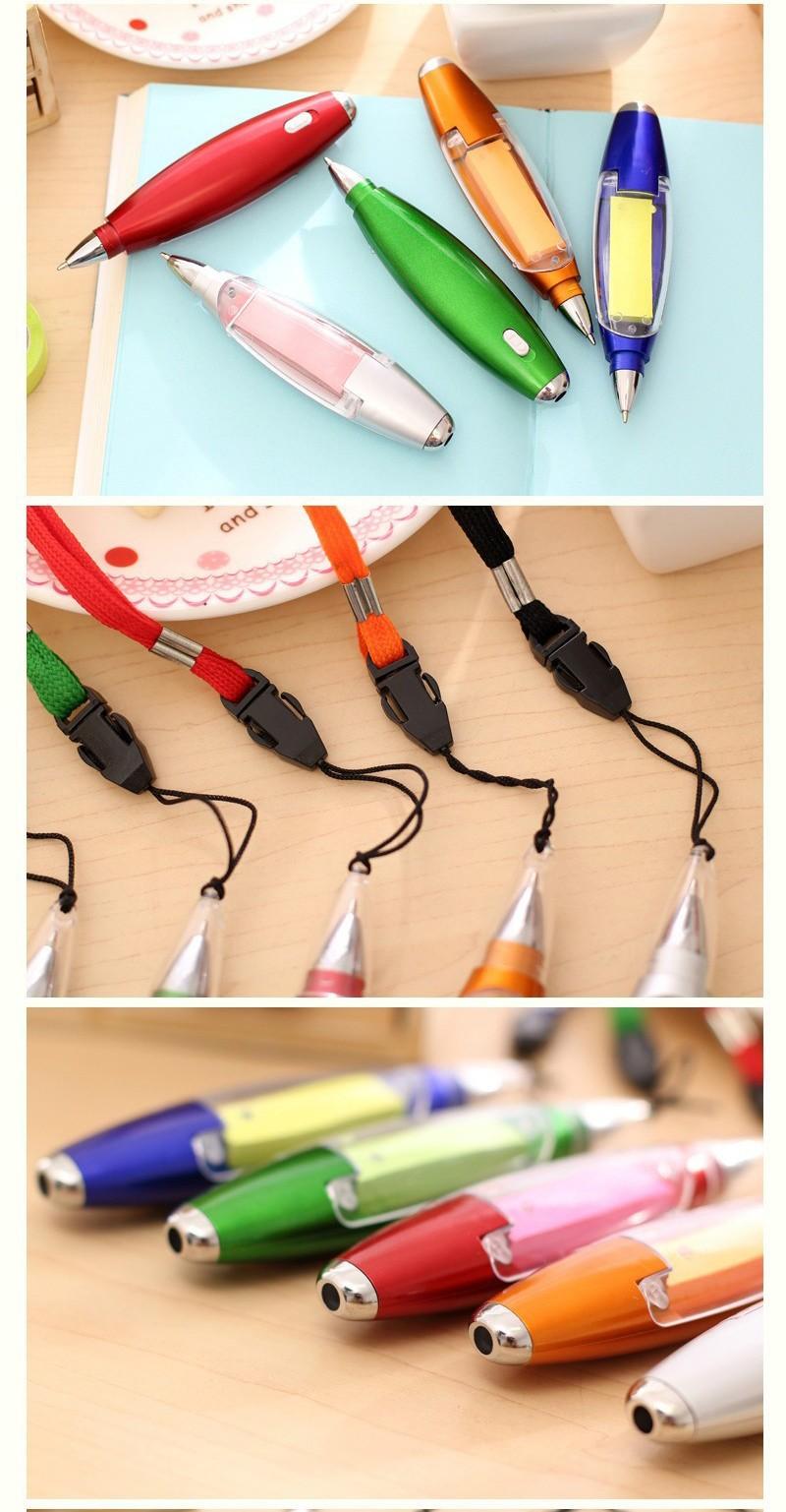 Ручка блокнот с фонариком ручка шпаргалка с бумагой внутри 07 - Ручка-блокнот с фонариком, ручка-шпаргалка с бумагой внутри
